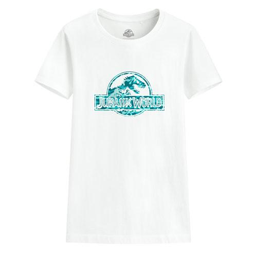 image of Lativ :Jurassic World印花T恤-11-女( 白色)