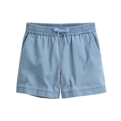 image of Lativ :軟牛仔輕便短褲-女( 淺藍)