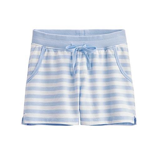 image of Lativ :小毛圈條紋短褲-女( 淺藍條)