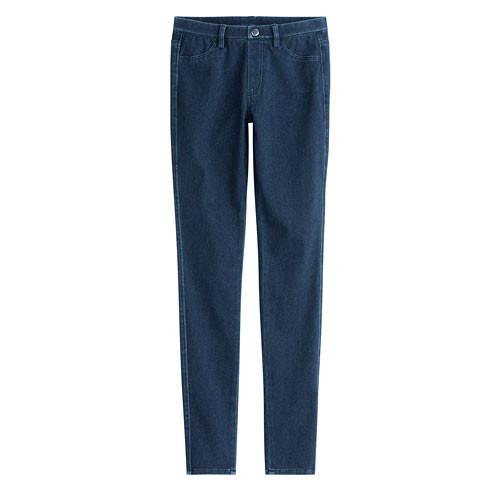 Lativ:針織牛仔緊身褲-女( 藍色)