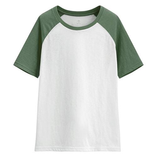 image of Lativ: 竹節棉配色T恤-女( 綠色)