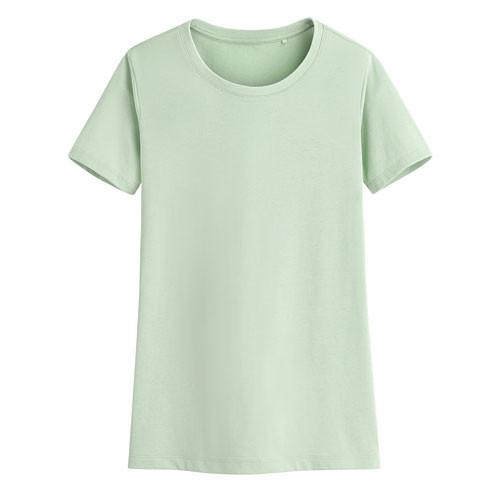 Lativ: 快乾棉圓領T恤-女( 淺灰綠)