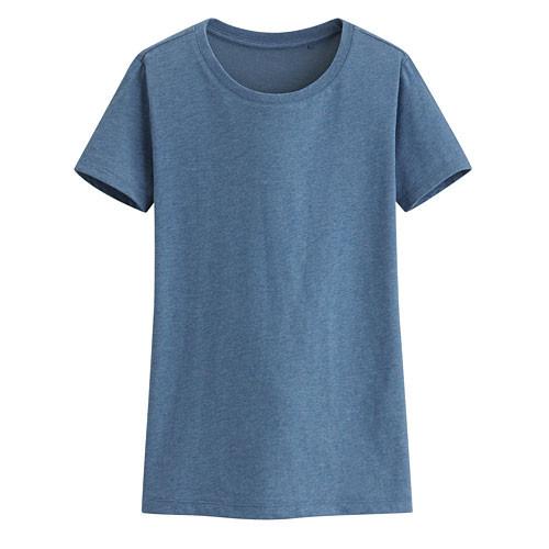 Lativ: 快乾棉圓領T恤-女( 麻花藍)