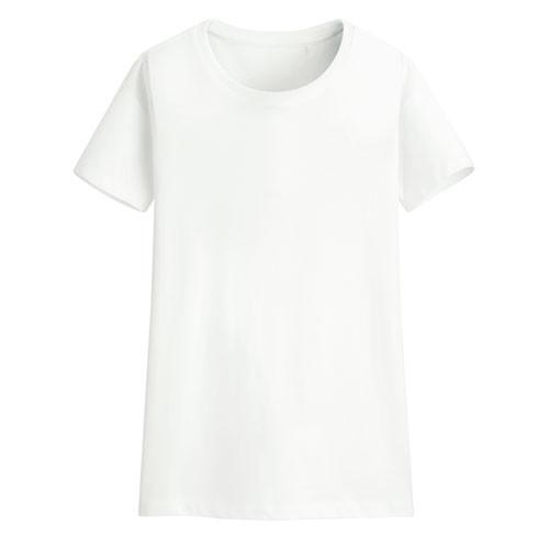 Lativ: 快乾棉圓領T恤-女( 白色)