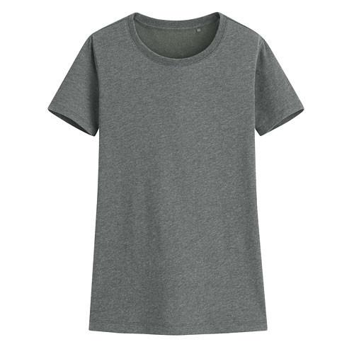 Lativ: 快乾棉圓領T恤-女( 深麻灰 )