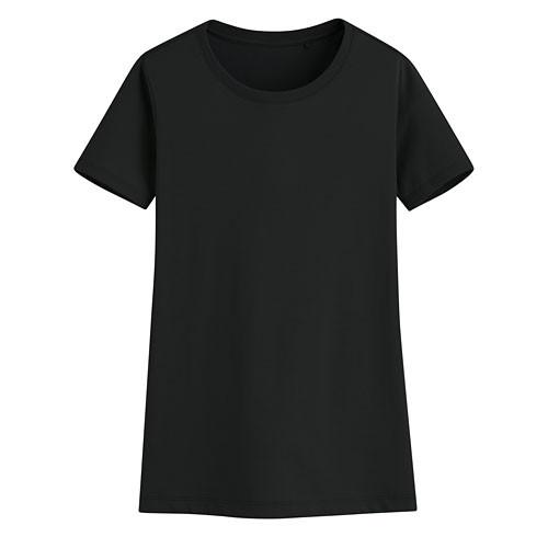 image of Lativ: 快乾棉圓領T恤-女( 黑色)