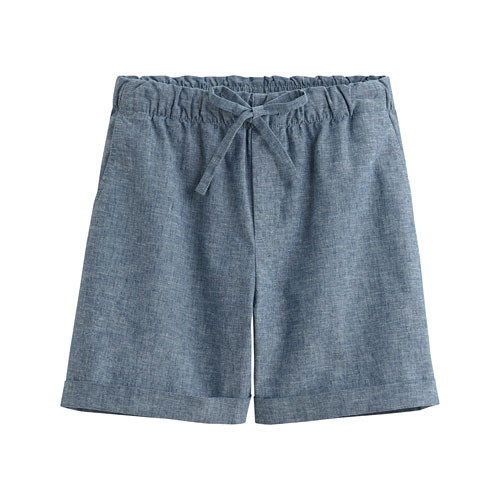 image of Lativ:棉麻輕便短褲-女( 藍色)