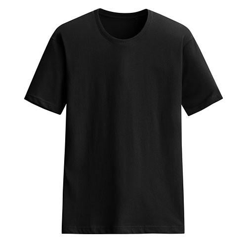 Lativ :快乾棉圓領T恤-男( 黑色)