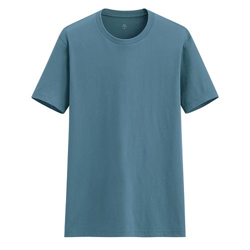 Lativ : Pima 棉圓領T恤-男( 灰藍)