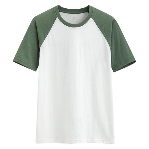 image of Lativ :竹節棉配色T恤-男( 綠色)