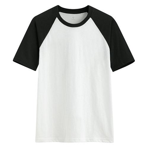 image of Lativ :竹節棉配色T恤-男( 黑色)