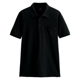 image of Lativ : 竹節棉polo短袖T恤-男( 黑色)