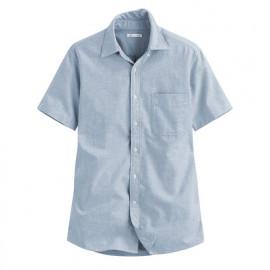 image of Lativ : 牛津短袖襯衫-男( 藍色)