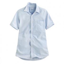 image of Lativ : 牛津條紋短袖襯衫-男( 藍白條)