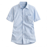 image of Lativ : 牛津條紋短袖襯衫-男( 藍粉條)