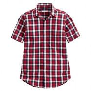 image of Lativ : 經典格紋短袖襯衫-男( 紅藍白格)