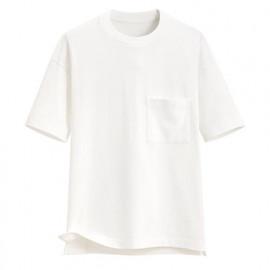 image of Lativ :厚紡寬版圓領T恤-男( 白色)