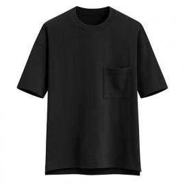 image of Lativ :厚紡寬版圓領T恤-男( 黑色)