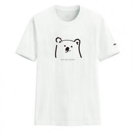 image of Lativ :Polar Bear Benjamin印花T恤-02-男( 白色)