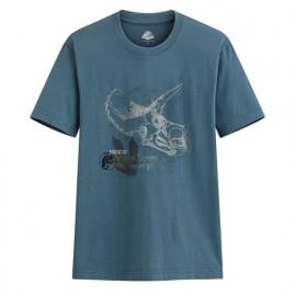 image of Lativ :Jurassic World印花T恤-12-男( 深灰藍)