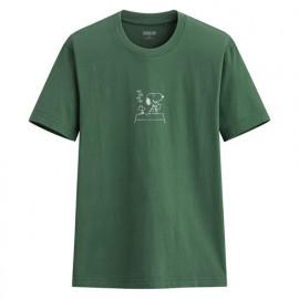image of Lativ :史努比印花T恤-03-男( 綠色)