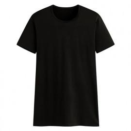 image of Lativ :輕涼圓領短袖T恤-男( 黑色)
