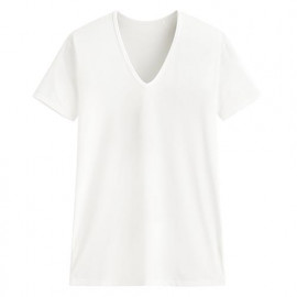 image of Lativ :輕涼V領短袖T恤-男( 白色)