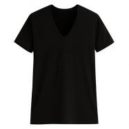 image of Lativ :輕涼V領短袖T恤-男( 黑色)