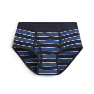 image of Lativ :Pima 棉質條紋三角褲-男( 藍色條)