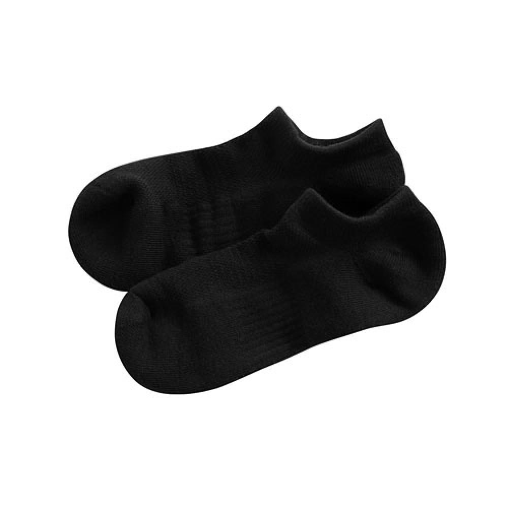 Lativ :毛圈網眼踝襪-男( 黑色 -F)