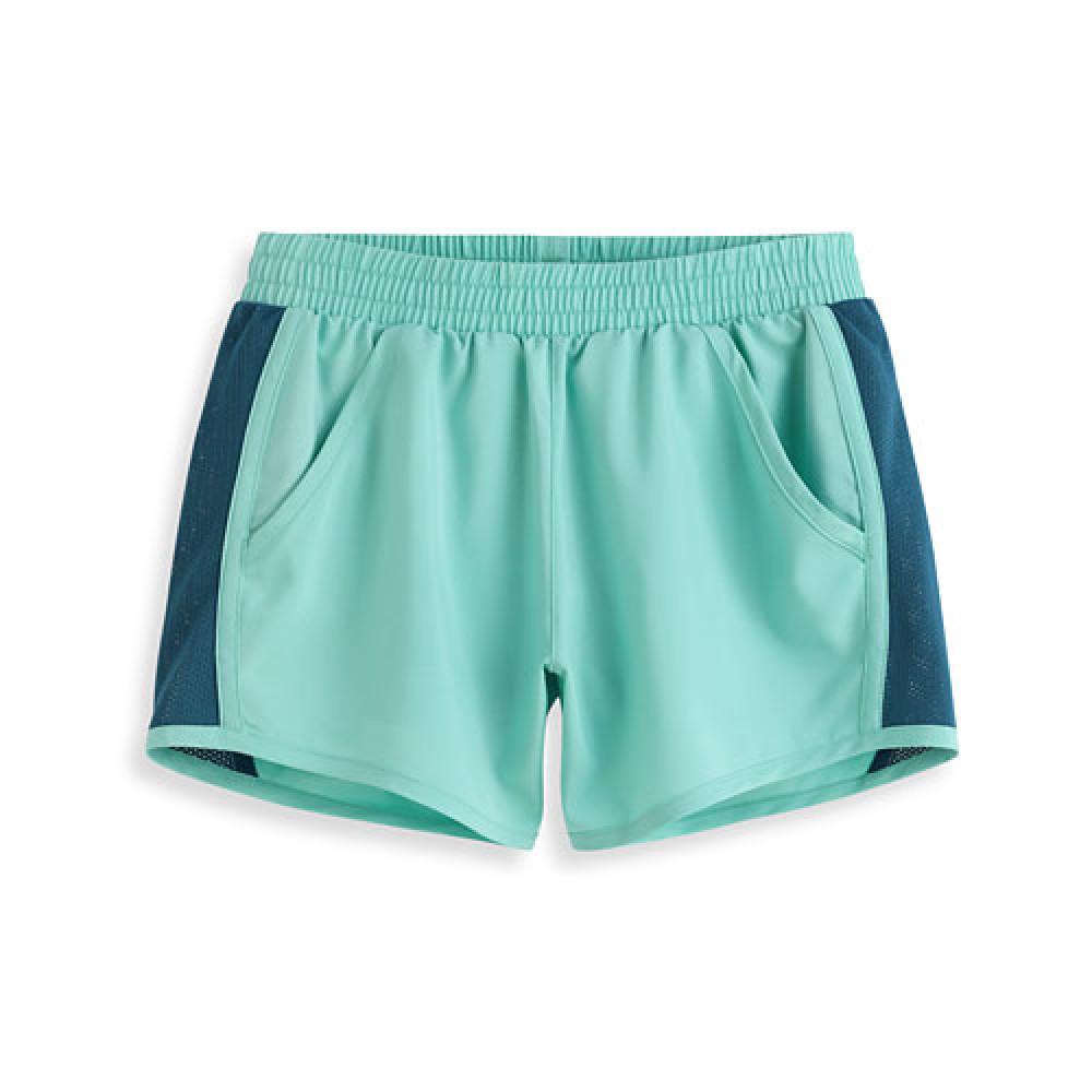 Lativ :吸排運動短褲-女( 淺藍綠)