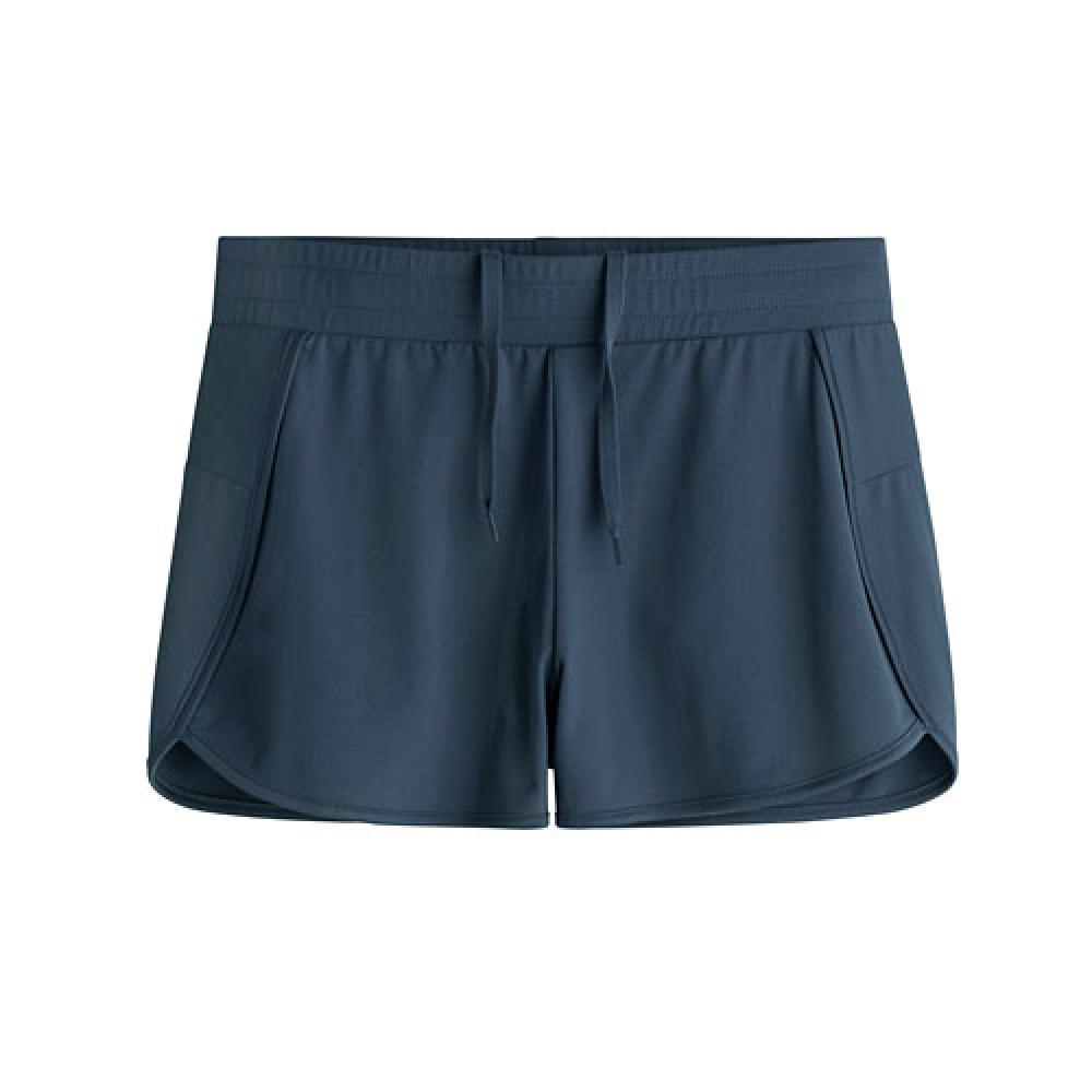 Lativ : 吸排網眼短褲-女( 灰藍)
