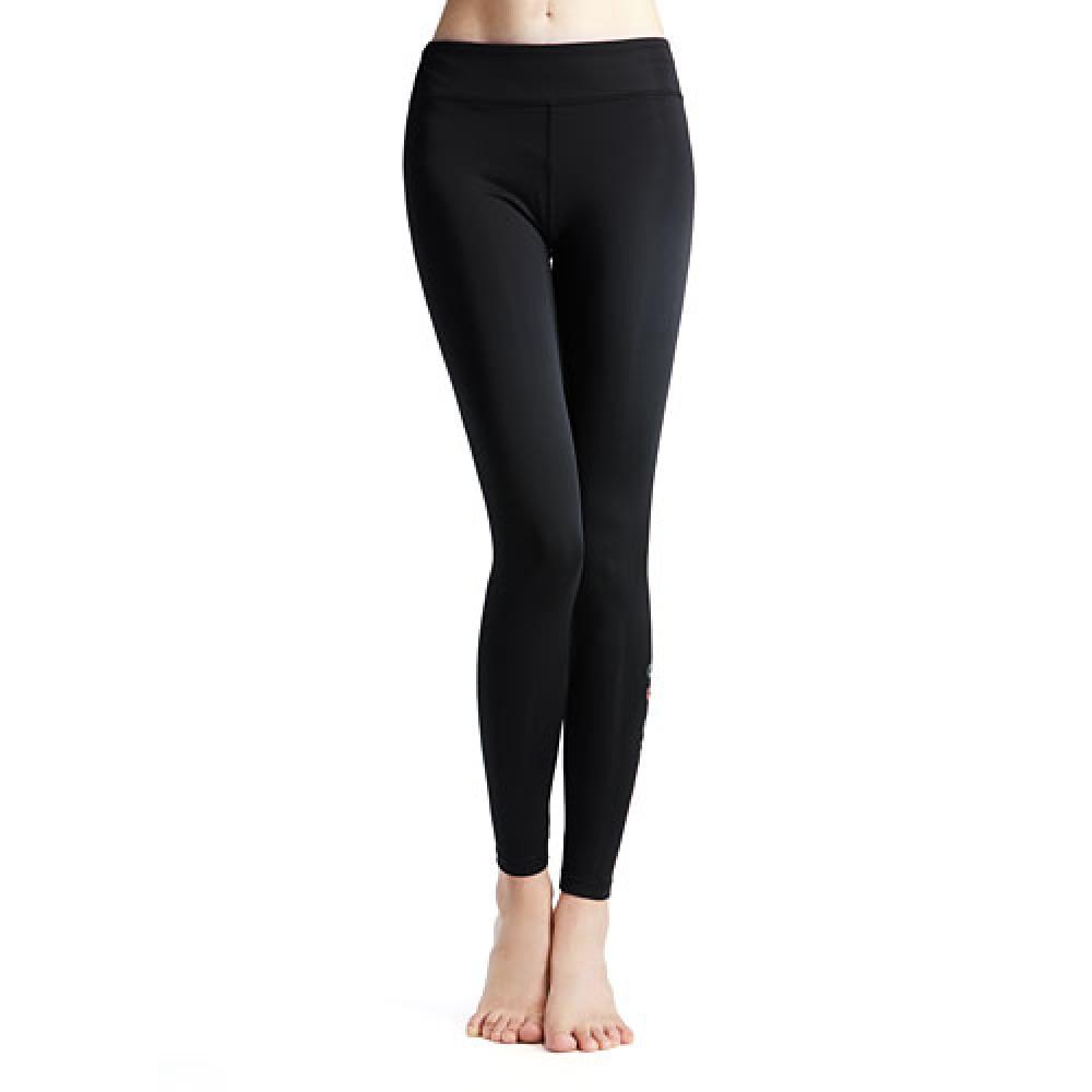 Lativ : 吸排文字緊身褲-女( 黑色)