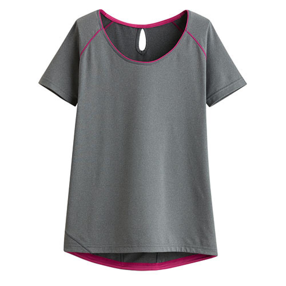 Lativ : 吸排短袖T恤-女( 麻灰)
