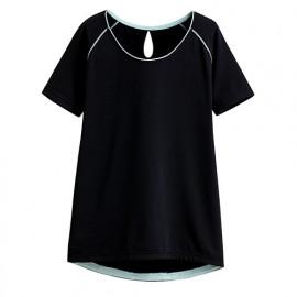 image of Lativ : 吸排短袖T恤-女( 黑色)
