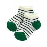 Lativ : 半毛圈條紋踝襪-童( 深藍條)