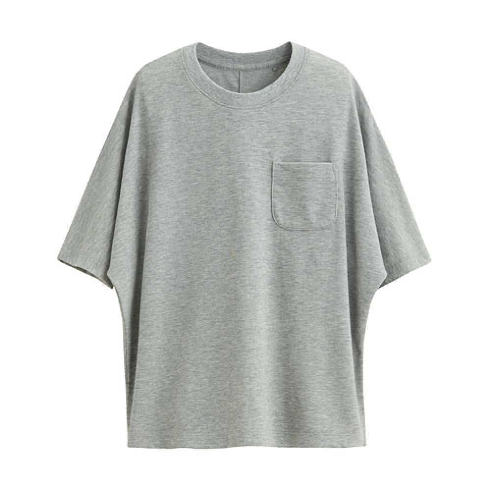 Lativ : 快乾網眼短袖上衣-女( 淺麻灰)