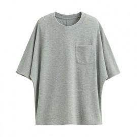 image of Lativ : 快乾網眼短袖上衣-女( 淺麻灰)