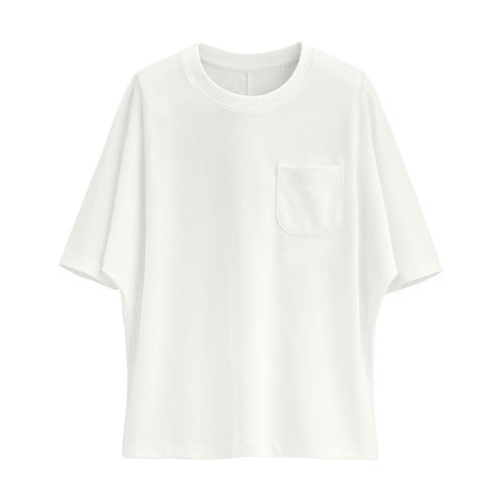 Lativ : 快乾網眼短袖上衣-女( 白色)