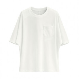 image of Lativ : 快乾網眼短袖上衣-女( 白色)