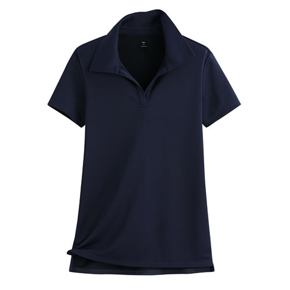 Lativ : 吸排開領polo衫-女( 藏青)