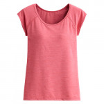 Lativ : 吸排Bra圓領T恤-女( 麻花灰粉)