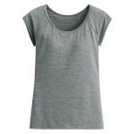 Lativ : 吸排Bra圓領T恤-女( 麻灰)