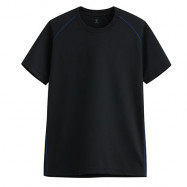 image of Lativ : 吸排圓領T恤-男( 黑色)