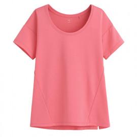 image of Lativ : 吸排寬版短袖T恤-女( 珊瑚粉)