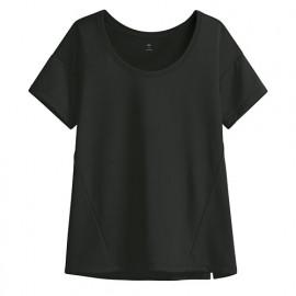 image of Lativ : 吸排寬版短袖T恤-女( 黑色)