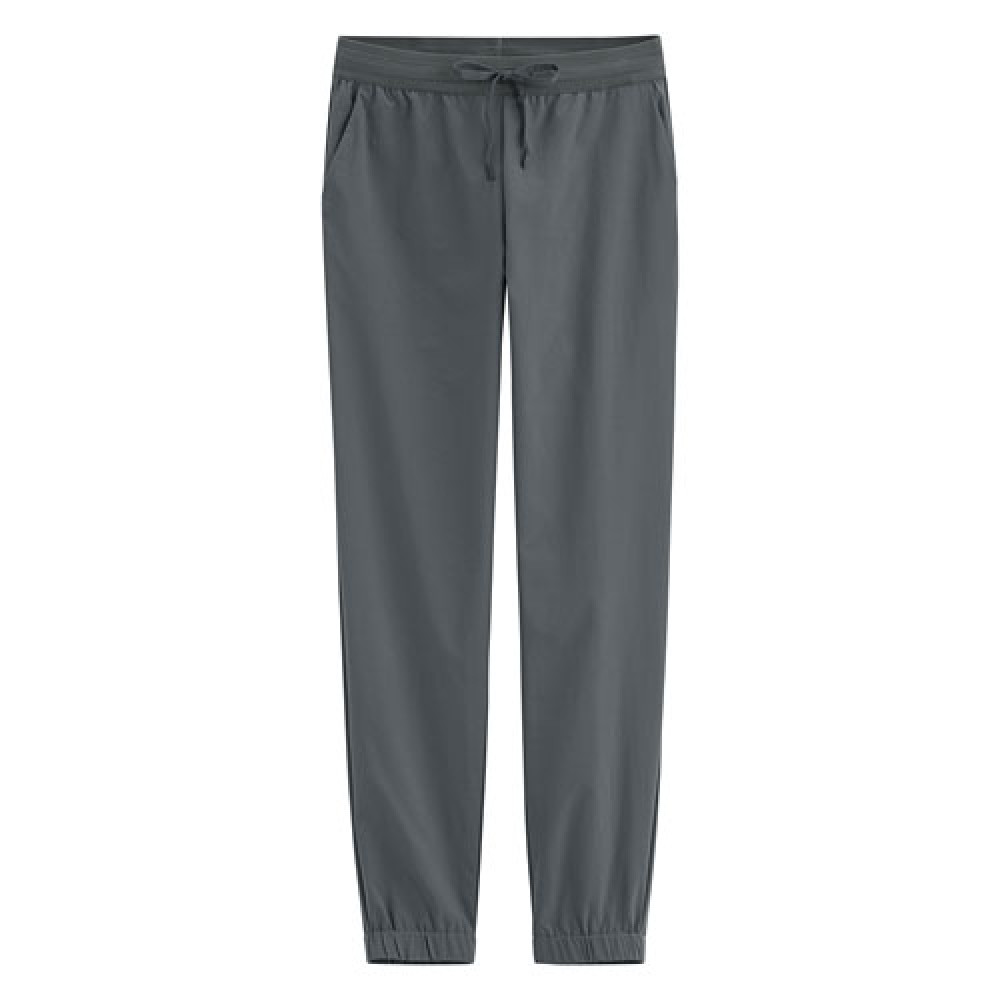 Lativ : 吸排彈性束口褲-女( 深灰)