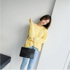 image of COVERME :  METICULOUS LEATHER FRONT FLAP SHOULDER BAG
