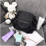 image of COVERME LOGO DETAIL NELON COSMETIC BAG