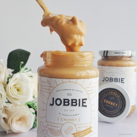 image of Jobbie Chunky Pure Peanut Butter No Sugar No Salt 380grams